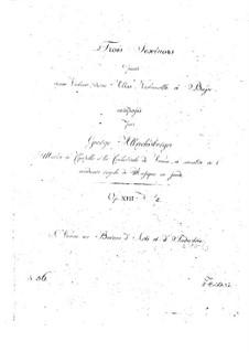 Six String Sextets, Op.13: Sextets No.4-6 by Johann Georg Albrechtsberger
