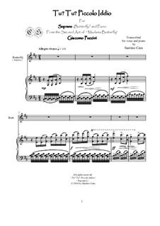 Madama Butterfly : Tu? Tu? Piccolo Iddio, for soprano and piano, CSPG14 by Giacomo Puccini