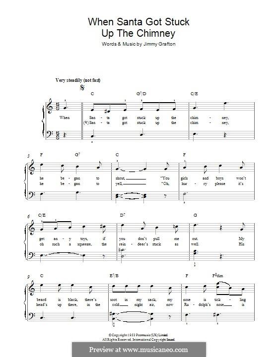 When Santa Got Stuck Up the Chimney: Para Piano by Jimmy Grafton