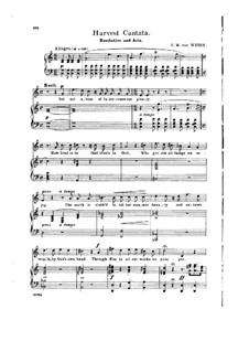 Harvest Cantata: Recitative and Aria 'Then Does Mem'ry Turn to Days' by Carl Maria von Weber