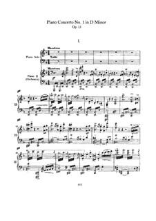 Concerto for Piano and Orchestra No.1 in D Minor, Op.15: Versão para dois pianos de quatro mãos by Johannes Brahms