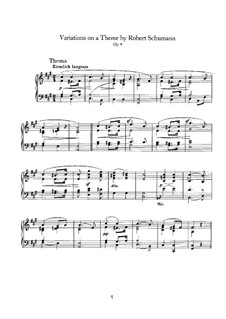 Variations on a Theme by Schumann, Op.9: Para Piano by Johannes Brahms
