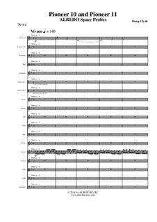 Albedo Space Probes: Pioneer 10 and Pioneer 11 (Full Score and Parts), AMSM83 by Doug Clyde