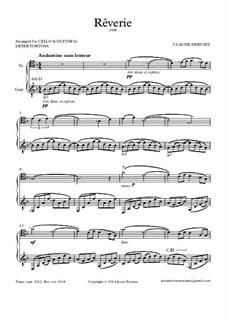 Rêverie, L.68: para violoncelo e guitarra by Claude Debussy