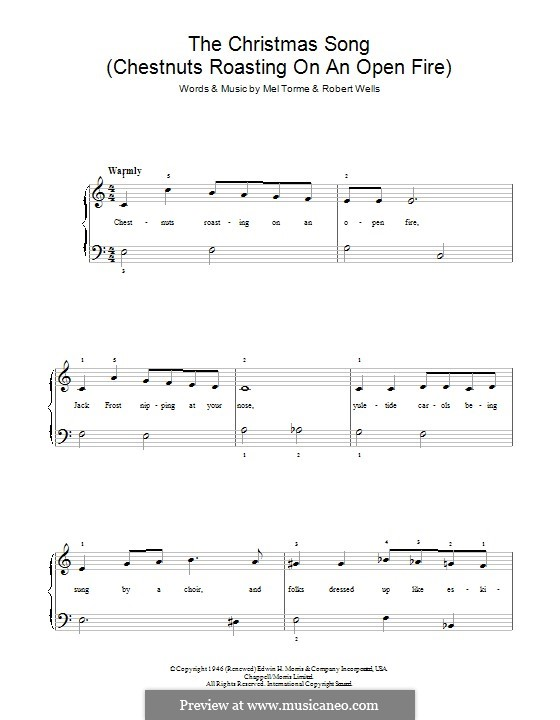 The Christmas Song (Chestnuts Roasting on an Open Fire), for Piano: para um único musico (Editado por H. Bulow) by Mel Tormé, Robert Wells