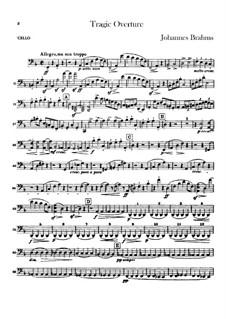 Tragic Overture, Op.81: parte violoncelo by Johannes Brahms