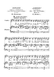 Die Lorelei: Partitura Piano-vocal by Friedrich Silcher
