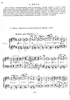 Ole from the Northland, Op.53: ato II - piano-vocal partitura by Mikhail Ippolitov-Ivanov