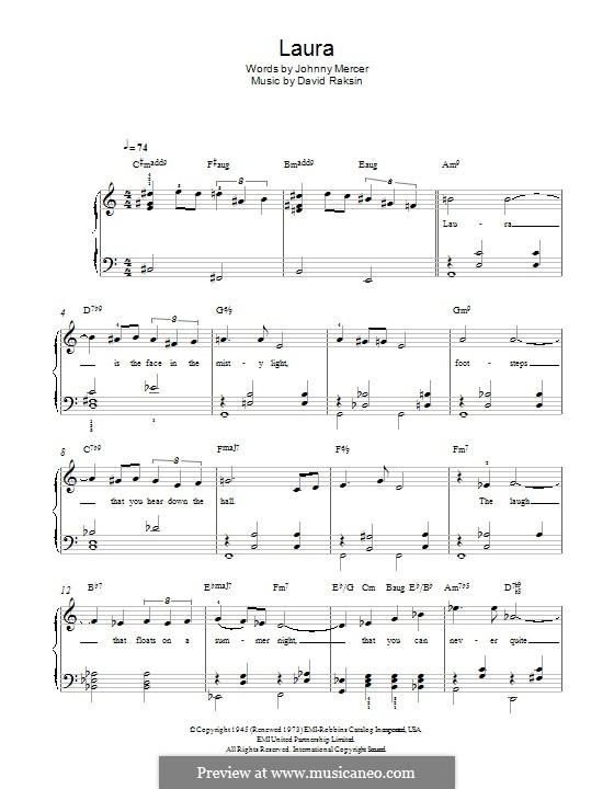 Laura (Frank Sinatra): Para Piano by David Raksin