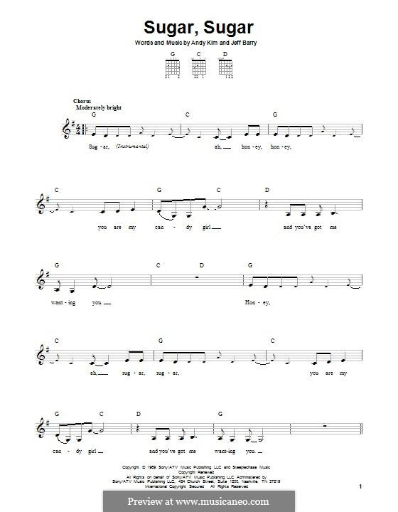 Sugar, Sugar (The Archies): Para guitarra com guia by Andy Kim, Jeff Barry