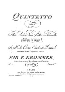 Quintet for Flute and Strings in D Minor, Op.94 No.3: viola parte II by Franz Krommer