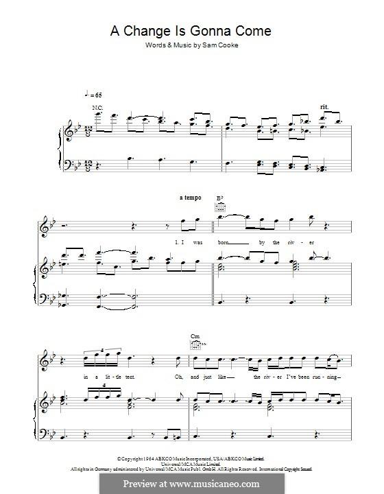 A Change Is Gonna Come (Greta Van Fleet): Para vocais e piano (ou Guitarra) by Sam Cooke