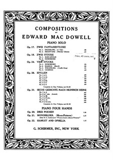 Two Pieces, Op.18: No.2 Humoresque by Edward MacDowell