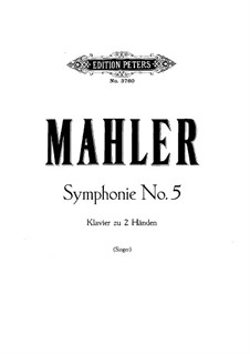Symphony No.5 in C Sharp Minor: Para Piano by Gustav Mahler