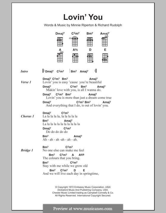 Lovin' You: para ukulele by Minnie Riperton, Richard Rudolph