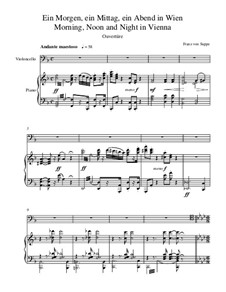 Overture to 'Morning, Noon, and Night in Vienna': para Violoncelo e piano by Franz von Suppé