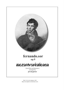 Introduction and Variations on Theme by Mozart, Op.9: para flauta e guitarra by Fernando Sor