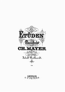 Six Etudes, Op.55: Para Piano by Charles Mayer