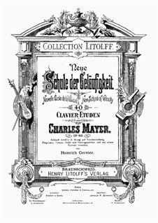 Forty Etudes, Op.168: Volume 1 by Charles Mayer