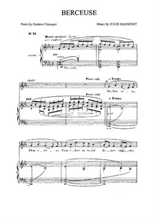 Berceuse: Partitura Piano-vocal by Jules Massenet