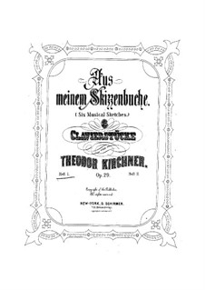 Aus meinem Skizzenbuch, Op.29: Peças No.1-3 by Theodor Kirchner