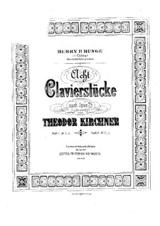 Eight Pieces, Op.79: Para Piano by Theodor Kirchner