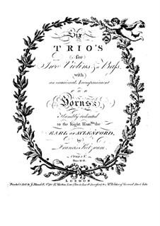 Six Trio Sonatas, Op.5: violino parte II by Franz Kotzwara