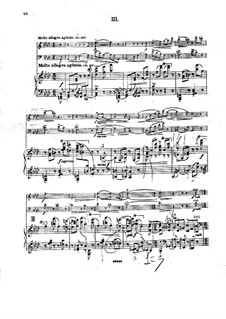Piano Trio in F Minor, Op.14: movimento III by Georgy Catoire