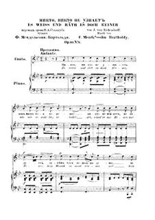 Six Songs, Op.99: Nr.6 Es weiss und räth es doch keiner by Felix Mendelssohn-Bartholdy