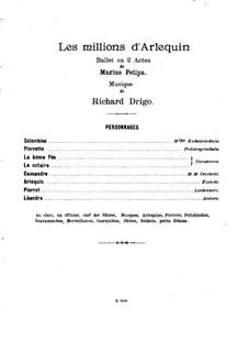 Les millions d'Arlequin: Para Piano by Riccardo Drigo