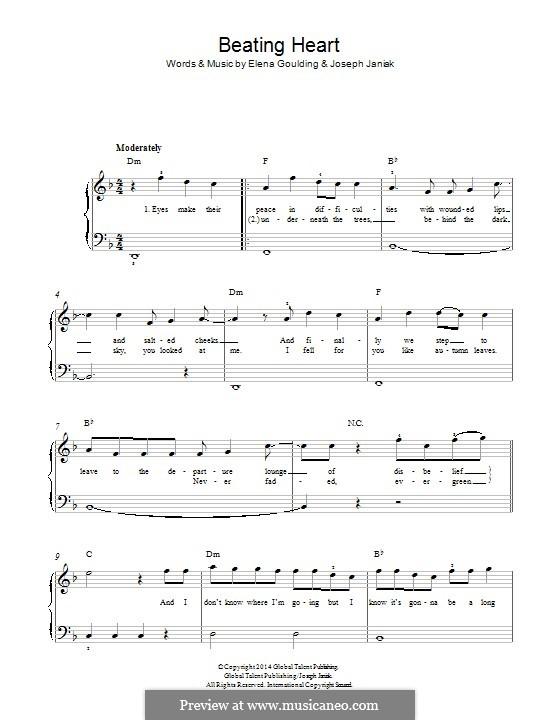 Beating Heart: Para Piano by Ellie Goulding, Joseph Janiak