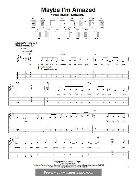 Maybe I'm Amazed: Para guitarra com guia by Paul McCartney