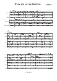 March No.1: para orquetra de cordas by Edward Elgar