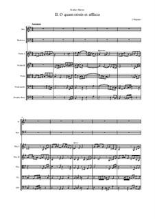 Stabat Mater: No.2 O quam tristis et afflicta by Jehan Vergnaye
