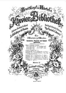 Symphony No.4 in D Minor, Op.120: versão para dois pianos de oito mãos - piano parte II by Robert Schumann