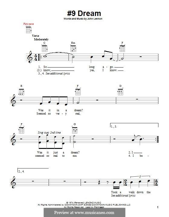 No.9 Dream: para ukulele by John Lennon