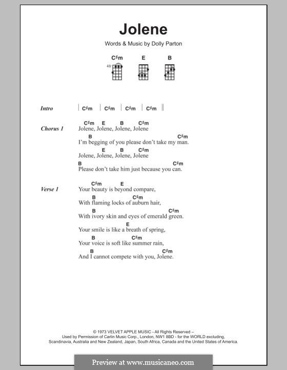 Jolene: para ukulele by Dolly Parton