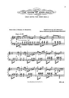 Das Glück von Edenhall (Charm of Edenhall), Op.143: arranjos para solistas, coral e piano by Robert Schumann