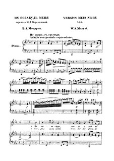Forget Me Not: Forget Me Not by Wolfgang Amadeus Mozart