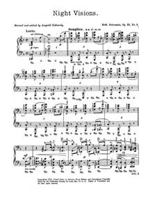 Night Pieces, Op.23: peça No.4 by Robert Schumann