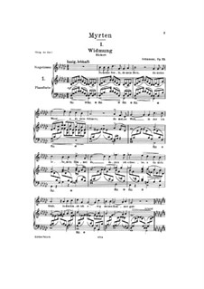 Complete set: Partitura Piano-vocal by Robert Schumann