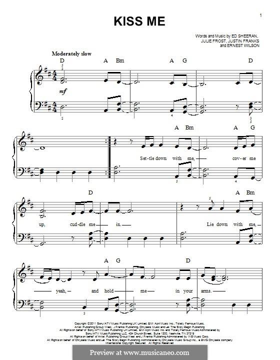 Kiss Me: Para Piano by Ed Sheeran, Julie Frost, Justin Franks