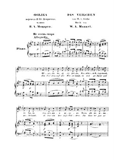 The Violet, K.476: Partitura Piano-vocal by Wolfgang Amadeus Mozart