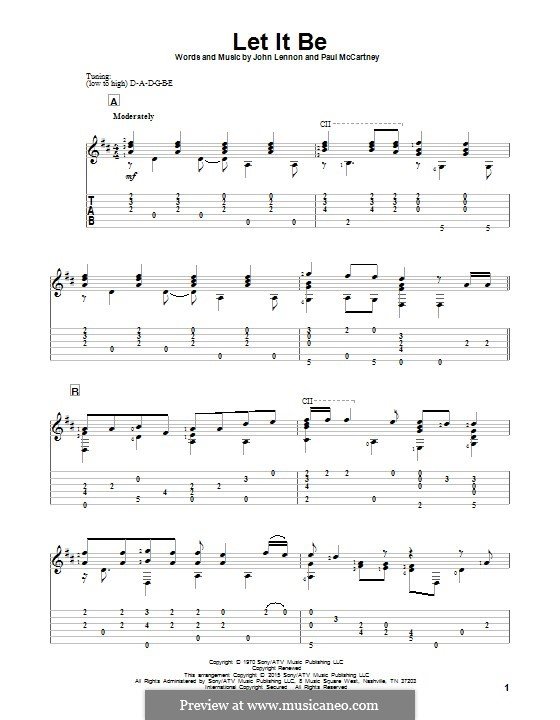 Let it Be (The Beatles): Para guitarra com guia by John Lennon, Paul McCartney