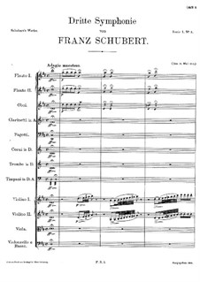 Symphony No.3 in D Major, D.200: movimento I by Franz Schubert
