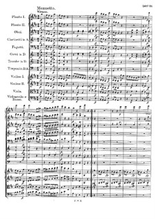 Symphony No.3 in D Major, D.200: movimento III by Franz Schubert
