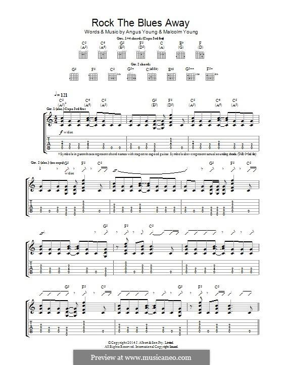 Rock the Blues Away (AC/DC): Para guitarra com guia by Angus Young, Malcolm Young