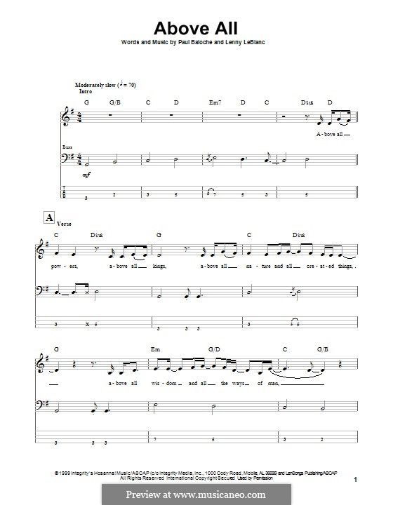 Above All: para baixo com guia by Paul Baloche, Lenny LeBlanc