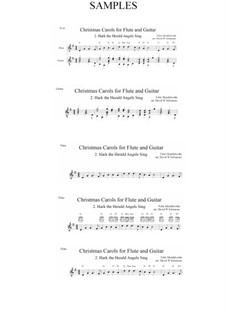 Hark! The Herald Angels Sing: para flauta e guitarra by Felix Mendelssohn-Bartholdy