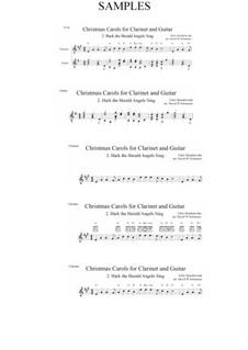 Hark! The Herald Angels Sing: para clarinete e guitarra by Felix Mendelssohn-Bartholdy